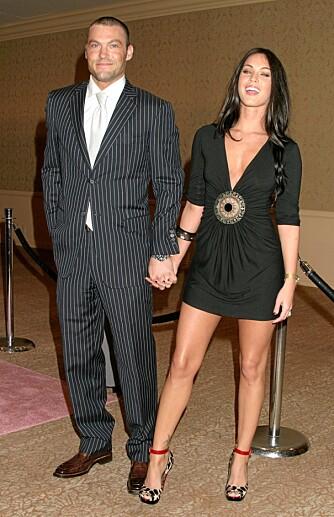 LYKKELIGE: Brian Austin Green og Megan Fox har vært et par i fire år