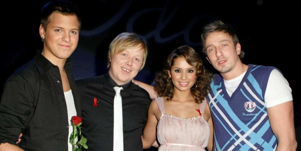 STØRST SUKSESS: Blant alle vinnerne av Idol opp gjennom årene, er det Kurt som har hatt aller størst suksess. Her sammen med Alesander Denstad With, Jorun Stiansen og Kjartan Salvesen.