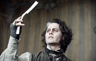 "Johnny Depp i ""Sweeney Todd"""