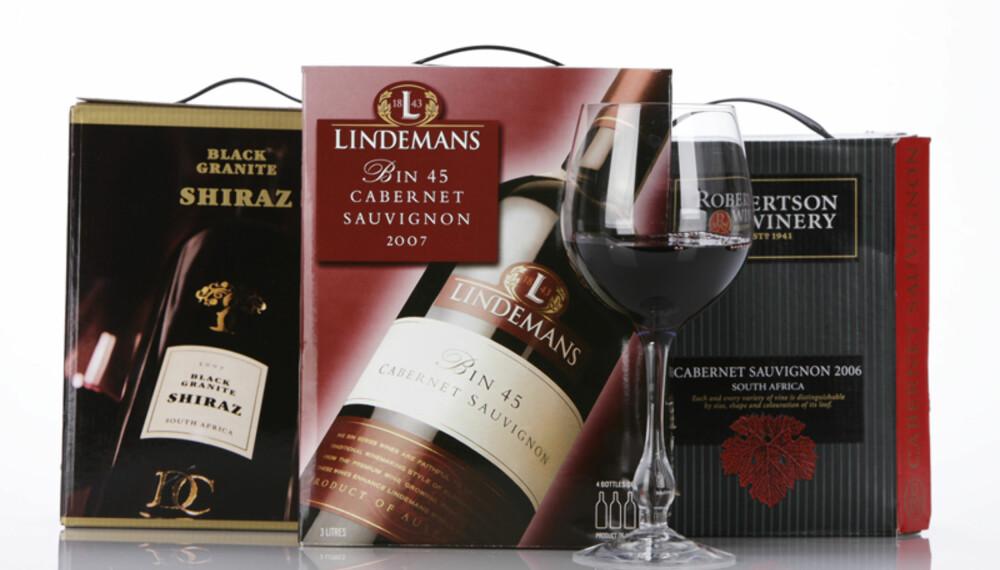 Dette er de tre beste vinene i testen. (Foto: Petter Berg/HM Foto)