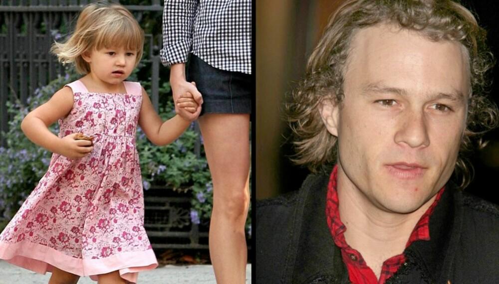SE, SÅ LIKE: Matilda er som snytt ut av nesa på sin avdøde pappa Heath Ledger