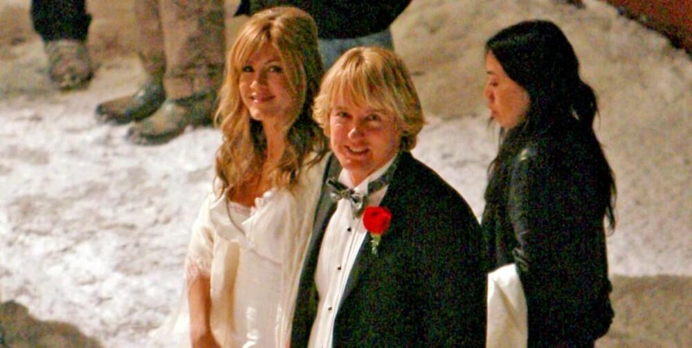 """SPILLER SAMMEN: I filmen """"Marley & jeg"""" spiller Jennifer mot Owen Wilson. Filmen har premiere til neste år."""