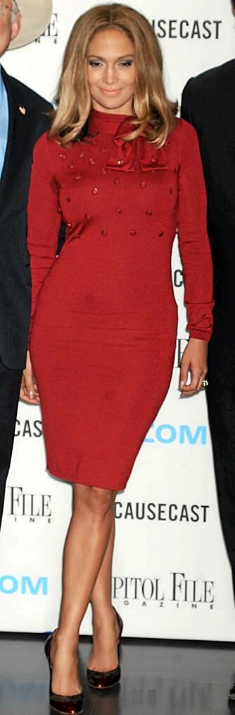 HOT MAMA: Jennifer Lopez veldreide figur er tilbake etter tvillingfødselen.