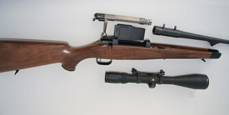 Mauser 03 har lett utskiftbare løp i diverse kalibre. (Foto: Jørund Lien)