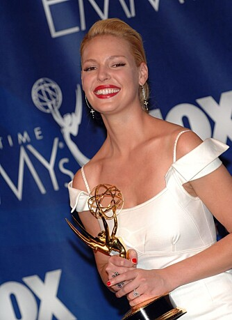"EMMY AWARDS: Katherine Heigl vant pris for ""Beste kvinnelige birolle"" for sin innsats i ""Grey's Anatomy"" under Emmy Awards 2007."