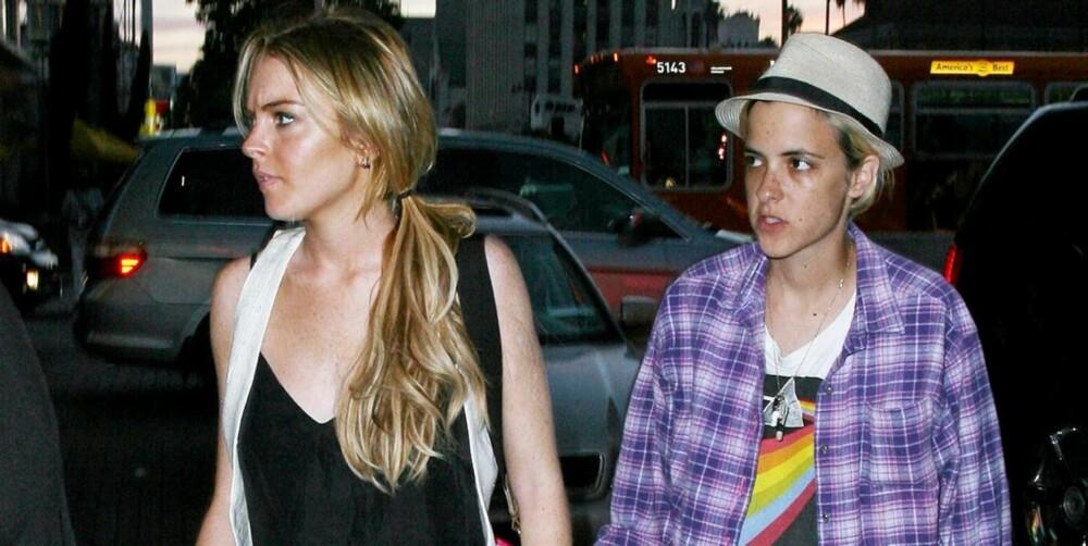 KOMMENDE FORELDRE: Lindsay Lohan og Samantha Ronson ønsker seg et barn sammen.