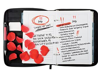 HUSKELISTE: Notater er din beste venn i planleggingsfasen!