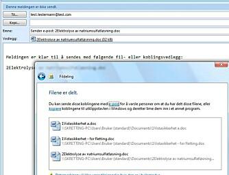 I Vista er det enklere enn noen gang å dele filer med andre.