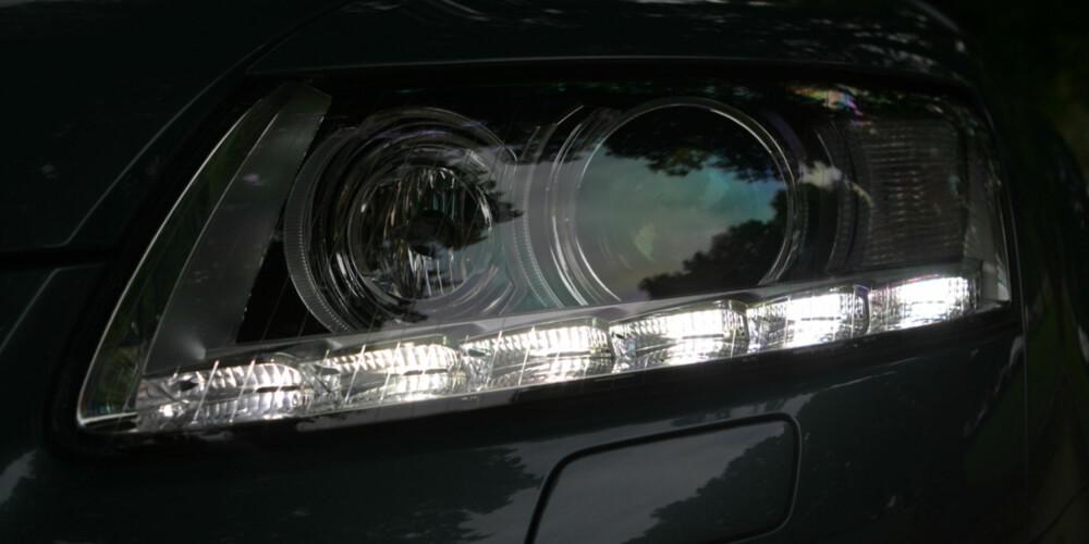 Nye A6 har fått muligheten for LED-lamper i hovedlyktene foran mot litt ekstra penger.