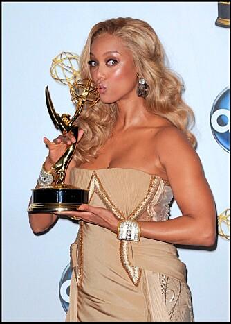 """EMMY-VINNER: I år vant Tyra en Daytime Emmy-pris for talkshowet sitt """"The Tyra Banks Show""""."""
