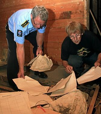På loftet på Berg gård dukker nazi-historie fram.