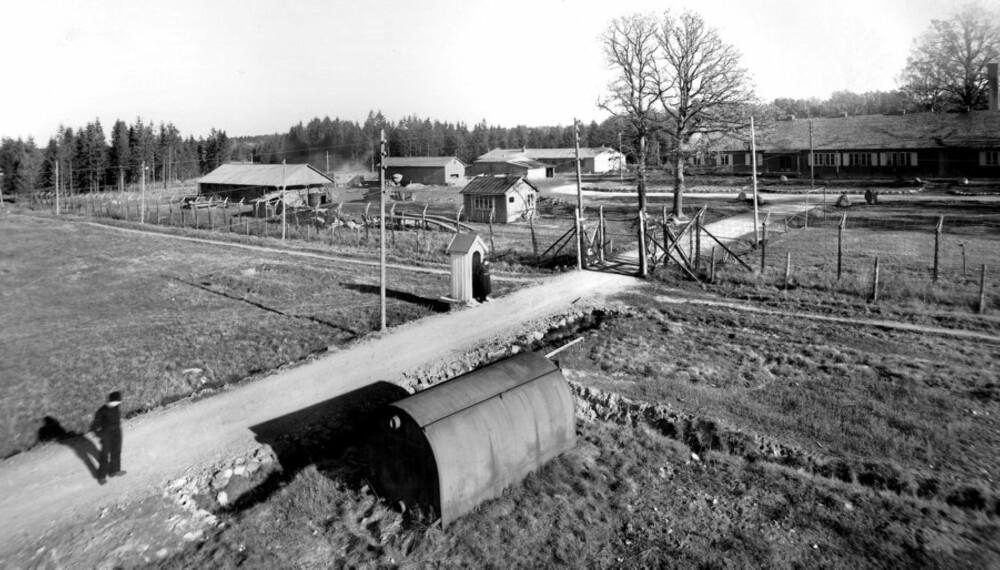 Berg interneringsleir, slik leiren så ut under krigen.