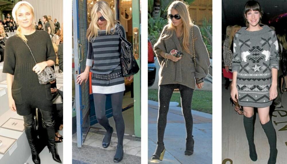 FAVORITTPLAGG: Kjendisene sverger til genserkolen om høsten. Både Diane Kruger, Kate Moss, Mary-Kate Olsen og Liv Tyler digger alle klesplagget