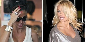 Katie Price, aka Jordan, får pepper av Pamela Anderson for at hun hele tiden skyver ungene foran seg i TV-show.