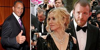 BITTERT OPPGJØR: Alex Rodriguez og Madonna ville holde forholdet sitt hemmelig fram til hun hadde tatt ut skilsmisse fra ektemann Guy Ritchie.