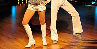 Siri Kalvig hadde lagt igjen minikjolen for anledningen og stilte i en like mini shorts.