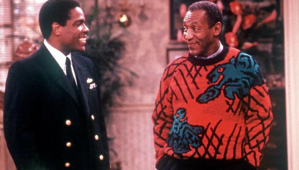 TRENDSETTER: Bill Cosby ble kjent for sine fargeglade strikkede gensere på 80-tallet