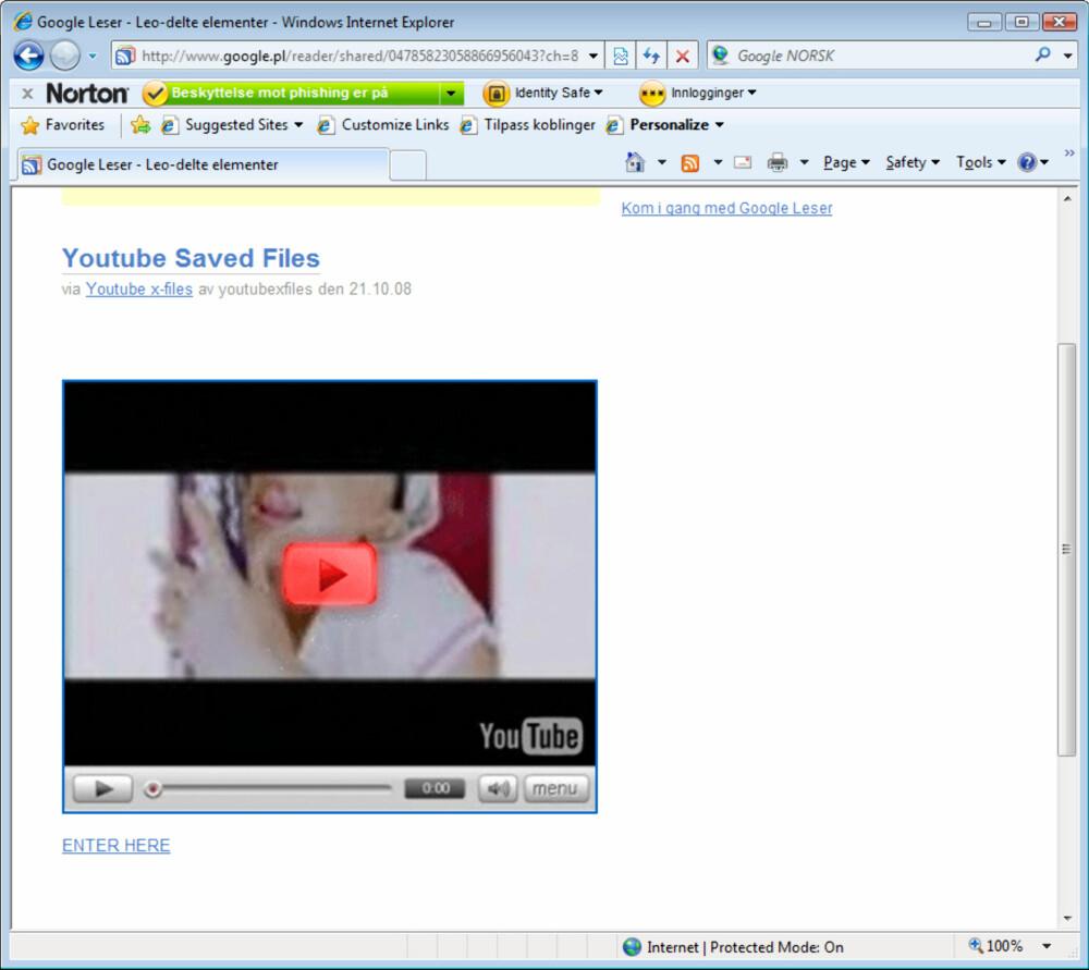 SNUSK: Det som ser ut som en litt snuskete YouTube-video, kan føre deg til en side med virus.