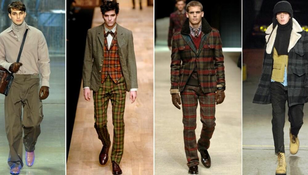 LANDLIG: Louis Vuitton, Paul Smith, D&G og Number Nine har latt seg inspirere av tweed og ull.