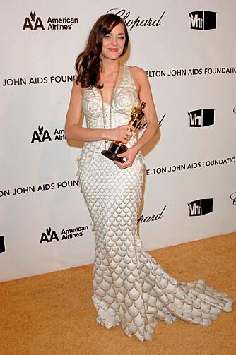 """OSCAR_VINNER: Marion Cotillard vant Oscar for sin rolle i den franske filmen """"La Vie en Rose""""."""