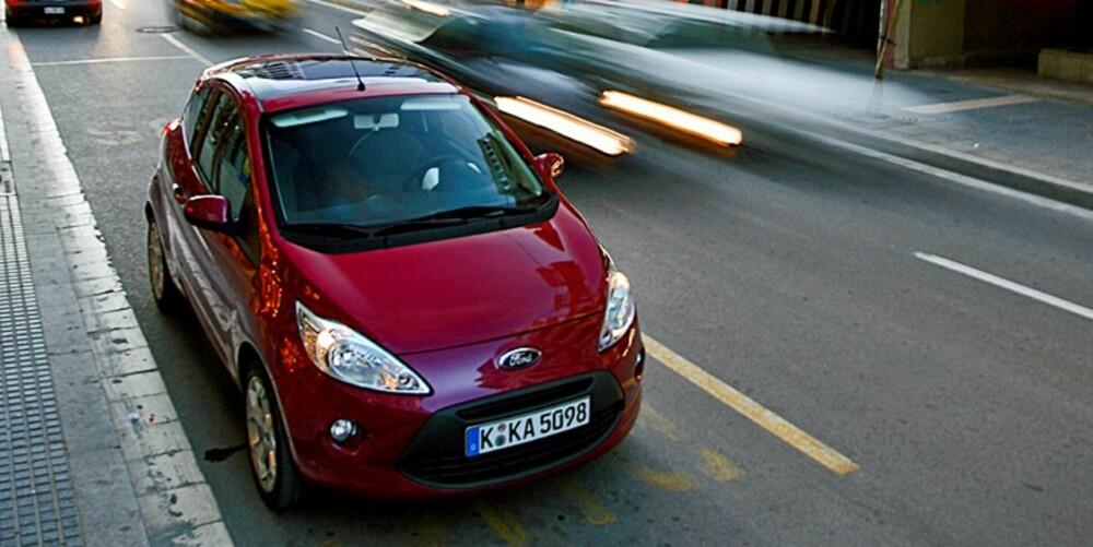 NY MODELL: Ford Ka er en helt ny bil, og mange vil nok si at den er penest i dette selskapet.