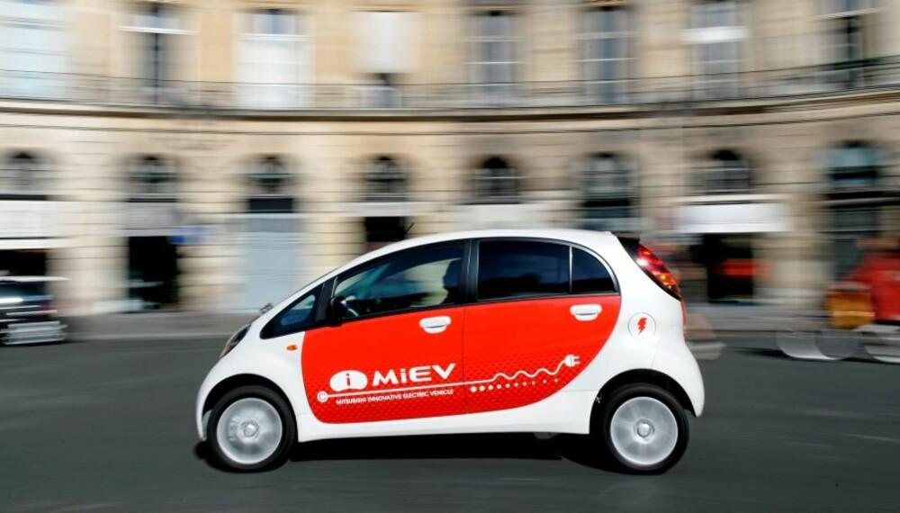 VINTERTESTING: Mitsubishi i-MiEV er på snarvisitt i Norge, og kommer tilbake senere i vinter for mer vintertesting.