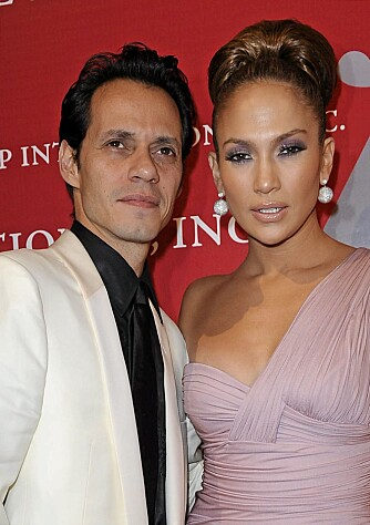Marc Anthony og Jennifer Lopez.