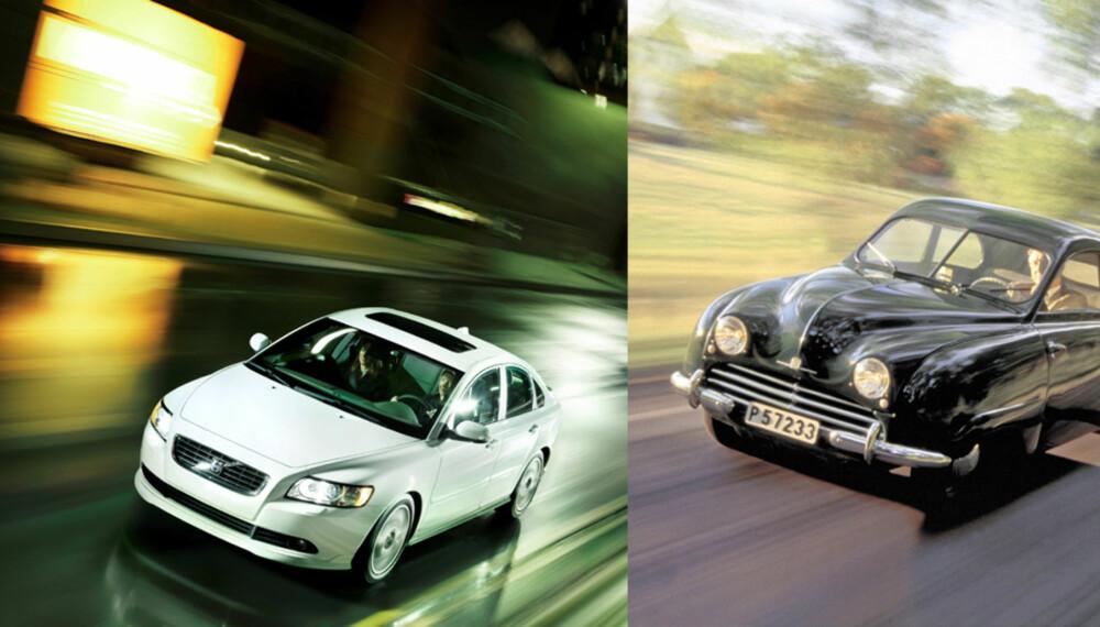 LANGE TRADISJONER: Volvo og Saab er velkjente merkenavn. Nå håper Ford og GM at den svenske staten vil hjelpe bilprodusentene gjennom krisen.