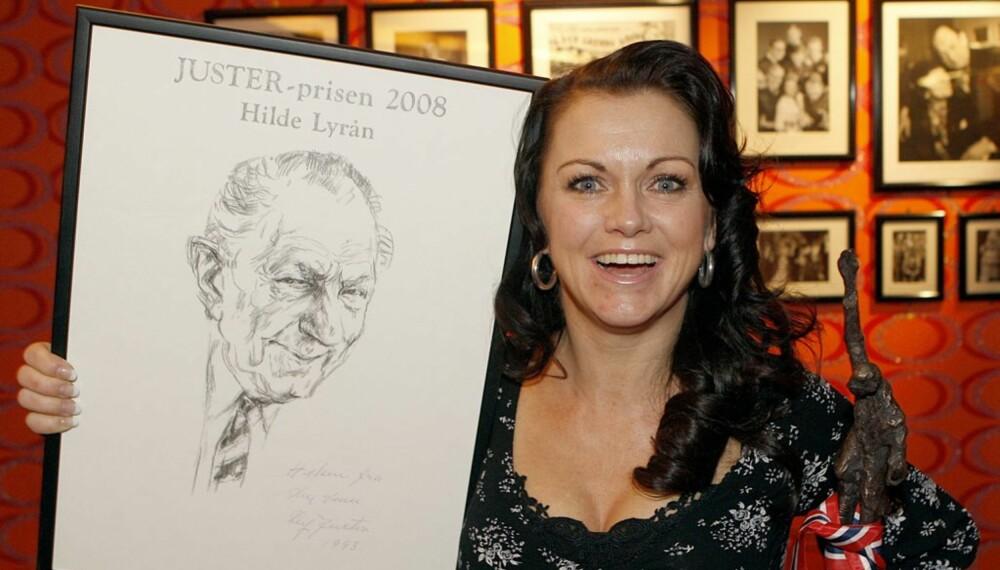 Hilde Lyrån mottok Juster-prisen 2008
