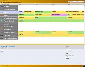 EPG: Zattoo byr også på en god elektronisk programguide.