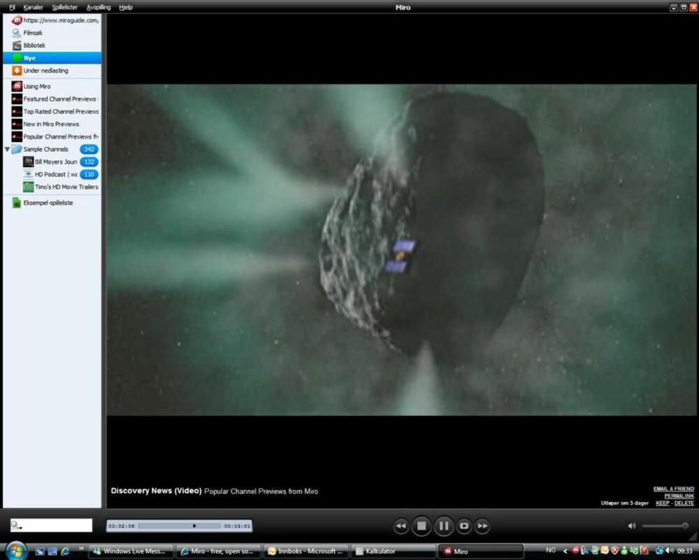 MYE INNHOLD: Miro er en plattform for avspilling av både internt og eksternt videoinnhold.