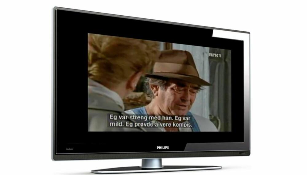 Denne TV-en lyser opp bakveggen ved hjelp av Philips Ambilight-teknologi, men bare på sidene og ikke hele veien rundt som på de litt mer avanserte modellene.