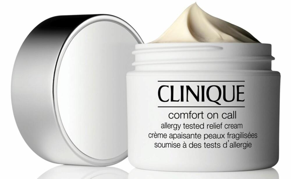 LINDRER: Clinique Comfort On Call skal lindre tørr vinterhud. Koster kr 375.