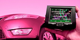 GPS Vehicle navigation system in a man hand gps bot