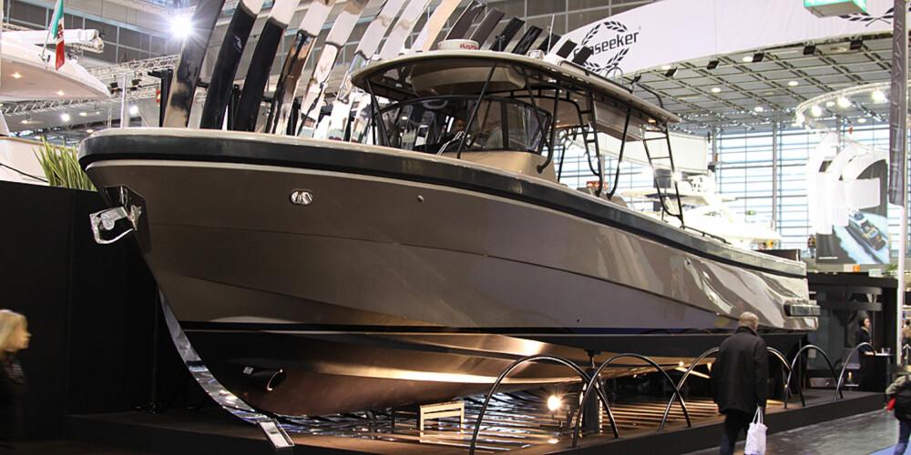 SKITT FISKE: Denne utrolig tøffe fiskebåten kryr det ikke av i bunnefjorden.