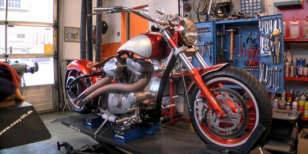 DONOR: Motoren er fra en 99-modell Buell. Gode 100 hester.