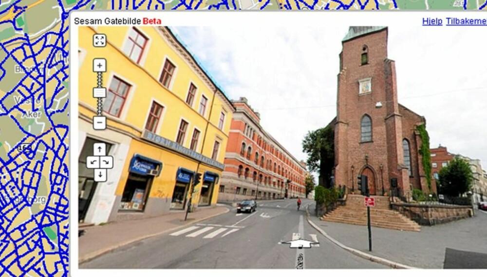 sesam kart oslo Gå gatelangs på nettet   Nye Medier sesam kart oslo