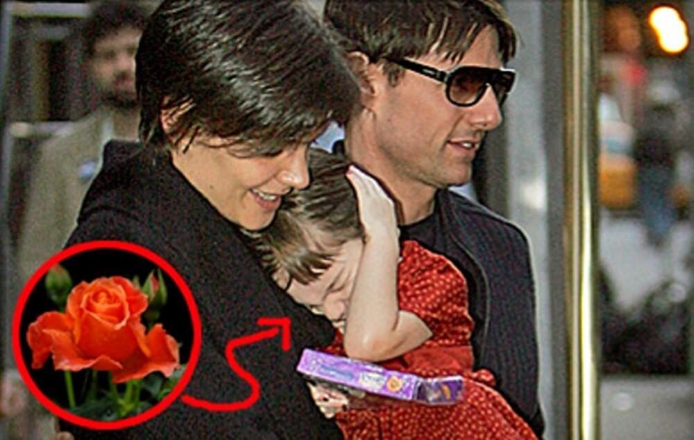 Kati Holmes og Tom Cruise ga datteren det persiske navnet Suri - rose.