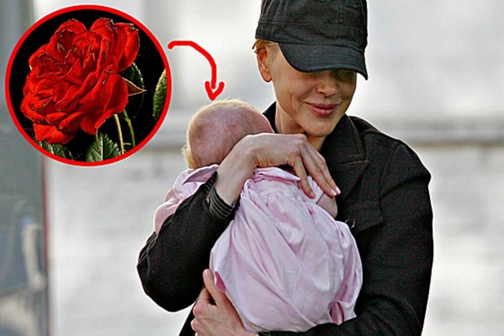 Nicole Kidman har, som sin eksmann Tom Cruise, sans for roser. Datteren heter Sunday Rose.