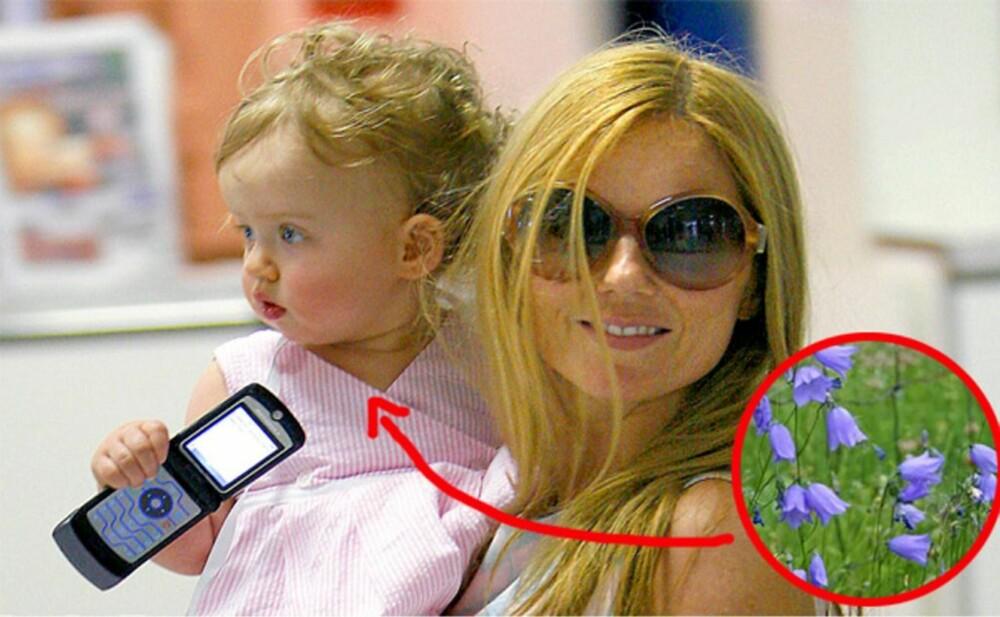 Eks-Spice Girls-jenta Geri Halliwells datter har fått det velklingende navnet Bluebell Madonna.