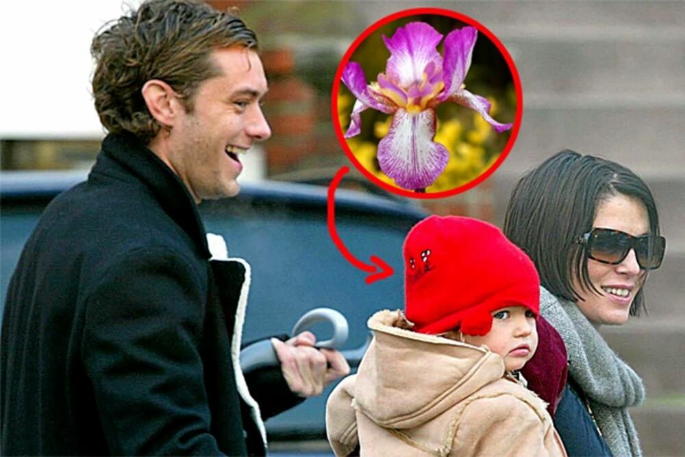 Jude Law og Sadie Frost med datteren Iris, den gang da ennå intet var forbi. Paret er i dag skilt.