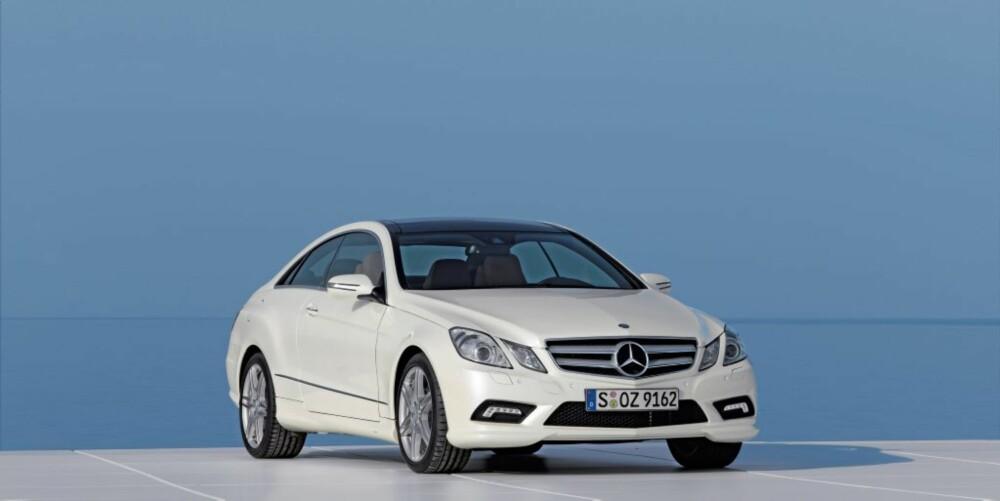 MERCEDES E-KLASSE COUPÉ: Mercedes E-klasse Coupé skal ta over for dagens CLK-modell. Forvent samme motoralternativer som sedan-utgaven – noe som også vil inkludere en AMG-versjon etter hvert.