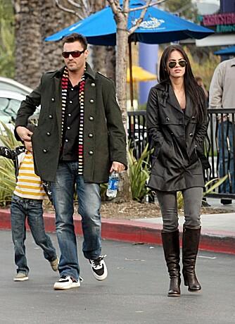 HVER SIN VEI: Brian Austin Green og Megan Fox går hver sin vei etter nesten fem år som kjærester.
