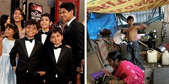 """Fra slummen til stjernehimmelen og tilbake. Azharuddin Ismail fikk være med på noe de færreste indiske """"slumdogs"""" blir til del. I helgen spradet han og de andre skuespillerne på den røde løperen i Hollywood. Et par døgn senere var han tilbake under presenningen."""