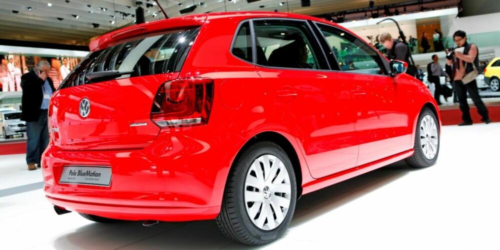 STOR SMÅBIL: Volkswagen Polo er like stor innvendig som storebror Golf var på midten av nittitallet.
