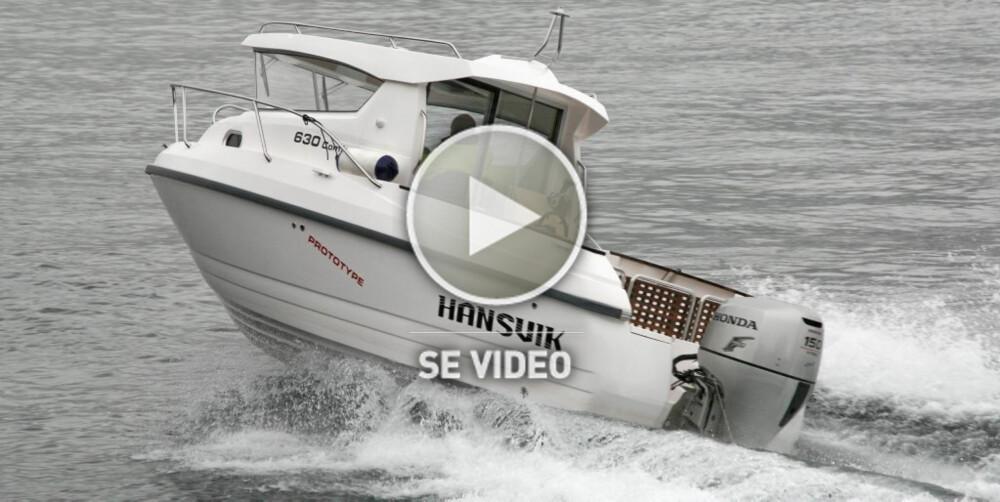 HANSVIK 630 CS: Praktisk allværsbåt med flere bruksområder.