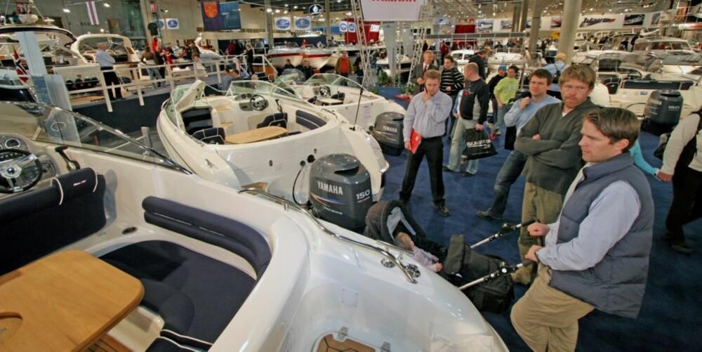 MINDRE BÅTER: Fokuset denne sesongen blir på de mer folkelige båtmodellene.