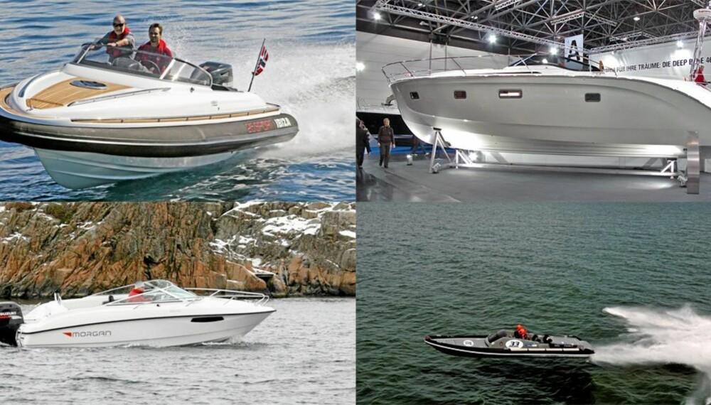 STORT UTVALG: Selv om produsentene konsentrerer seg om småbåtmarkedet i år, vil det være nok av godsaker å kikke på.