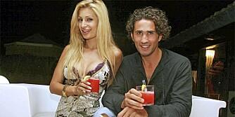 AMORE: Negar Khan og Luigi Cassandra i 2006, da de ble kjærester etter en filminnspilling.
