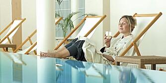 RO: Man kan oppleve like stort velvære ved bassengkanten som i selve bassenget.